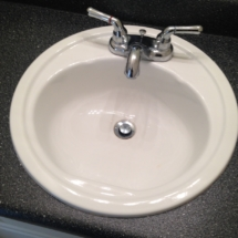 clean bathroom sink