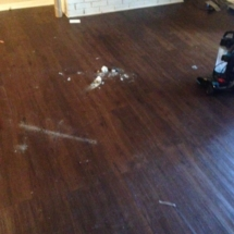 wood floor before cleaning