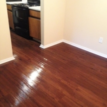 polished wood floor